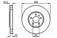 VW NEW BEETLE CONVERTIBLE POLO SALOON 98>> FRONT BRAKE DISCS - 1J0615301K DSK957