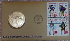 1975 BICENTENNIAL MEDAL& 200TH ANNIVERSARY OF THE ARMED FORCES COMEM FDOI STAMPS