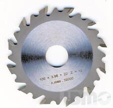Disque Fraise Lame pour lamelleuse 100 x 22 mm Lamello, Virutex, Elu, Bosch ..