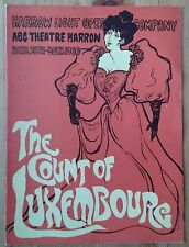 The Count of Luxembourg programme Harrow Light Opera Company April 1966