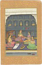 Mughal Miniature Painting Of Bangle Shop On Paper Handmade Finest Art Wall Decor