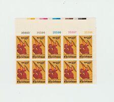 block of 10 CHRISTMAS / ALTARPIECE stamps - Scott #1550 MNH 10 cents 1974