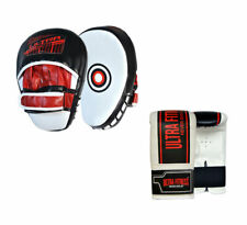ULTRA FITNESS Boxing Punching Hook and Jab Focus Pads + MMA Training Mitt Gloves