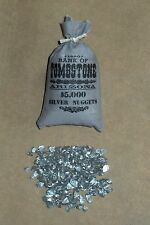 """1:6 scale """"BANK OF TOMBSTONE"""" bag of silver nuggets"""
