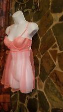 Victorias Secret Nightie Teddy Babydoll Chemise 34C NWT