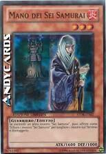 Mano dei Sei Samurai ☻ Super Rara ☻ STOR ITSE2 ☻ YUGIOH ANDYCARDS