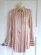 BNWT M&S Limited Edition pink striped longer length satin shirt sz 10