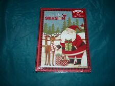 Tis the season 18 greeting cards with holders Christmas cards