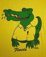SUNSHINE COVER-UPS lrg tee Florida 1980s preppy icon parody T shirt alligator