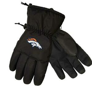 Denver Broncos NFL Black Insulated Gloves, Size L/XL - New With Tag