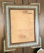 Wooden Moroccan Handmade Mirror Mother of pearl inlay Syrian style or PC frame