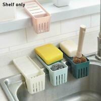 Kitchen Sink Faucet Sponge Soap Storage Organizer Cloth Drain Shelfs Rack V6U5