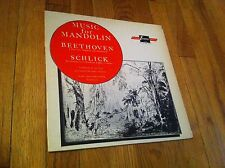 Music For Mandolin Beethoven Schlick TV 34110S Turnabout Vox Vintage Record LP