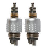 2 Dental 6 Hole LED Quick Coupler for COXO Fiber Optic High Speed Handpiece GW