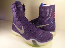 Nike Kobe X 10 Elite Grand Persian Violet Volt White SZ 9.5 (718763-505)