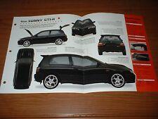 ★★1993 NISSAN SUNNY GTI-R ORIGINAL IMP BROCHURE SPEC INFO 93 90 91 92 94-95 GTIR