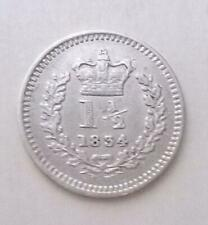 More details for 1834 three halfpence coin william iv silver very fine