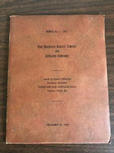Manual No. 4 - 1941 Pere Marquette Railway Company Affiliated Companies Diagram