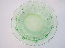 """Jeanette Glass Cherry Blossom Green 4-3/4"""" Diameter  Berry Dessert Fruit Bowls"""