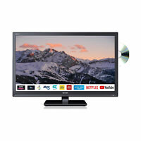 "Sharp 24"" Inch HD Ready LED Smart TV with Built-In DVD Player and Built-in Wi-FI"