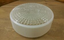 Vintage MID CENTURY Ceiling LIGHT  Globe Kitchen Hallway Retro round Glass Shade