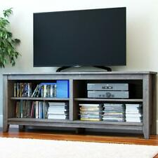 Ryan Rove Mission Wood TV Stand and Console Table Ash Grey Wooden Color, 58 Inch
