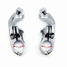 "1.25"" 32mm Chrome Highway Short Angled Foot Peg Mount Kit For Harley Touring"