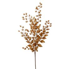 "30"" GOLD BERRY LEAF SPRAY F3600042 Raz Imports Christmas Mantle Decor NEW"
