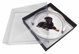 Rottweiler Dog Glass Paperweight in Gift Box Christmas Present, AD-RW3PW