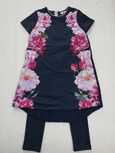 Girls Ted Baker Dress And Leggings Outfit Age 8-9