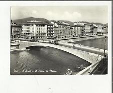 92554 PISA VECCHIA CARTOLINA PONTE DI MEZZO ARNO E FILOBUS