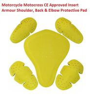 Motorcycle Motocross CE Approved Insert Armour Shoulder, Back & Elbow Protective