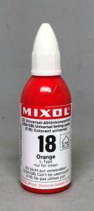 Mixol #18 ORANGE Universal Tint 20ml Bottle FREE SHIP