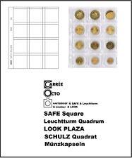10 LINDNER MU12-L Multi Collect Münzhüllen 12x 50mm für Münzrähmchen