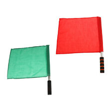2x Referee Football Soccer Hocky Training Lineman Track and Field Judge Flag