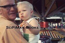 EKTACHROME 35mm Slide Amusement Park Car Ride Games Cute Little Boy Old Man 1972