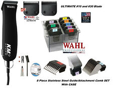 Wahl PRO KM2 PET Clipper KIT-ULTIMATE 10&30 Blade&Stainless Steel Guide Comb Set
