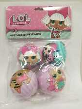 L.O.L. Surprise! Keychain Squeeze Ball, 4 Pack