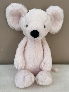 Jellycat Small Bashful Pink Mouse Soft Toy Comforter Soother