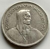 1932-B Switzerland Silver Five 5 Francs Coin ~ Freepost