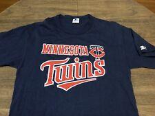 Vintage Minnesota Twins MLB Baseball Large Navy Starter T Shirt Fits Like Medium