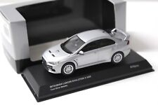 1:43 Kyosho Mitsubishi Lancer Evolution X GSR silver NEW bei PREMIUM-MODELCARS