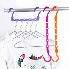5 Hole Hook Hanger Save Space Closet Wardrobe Clothes Holder Organizer Household