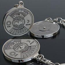 Cool 50 Year Calendar Key Chain Keyring Keyfob Metal Alloy Ring Compass  R