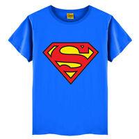 BAMBINI RAGAZZI SUPERMAN SPIDERMAN Estate collo tondo Maglietta a maniche corte