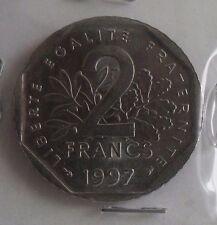 2 francs semeuse 1997 avec point : SUP : pièce de monnaie française