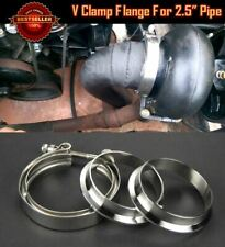 """T304 Stainless V Band Clamp Flange Assembly Kit For Nissan 2.5"""" OD Exhaust Pipe"""