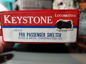 HO Keystone Locomotive Works HO-117 PRR Passenger Shelter Building Kit MIB!!