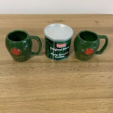 More details for lyons original pure ground coffee vintage with two green mugs.