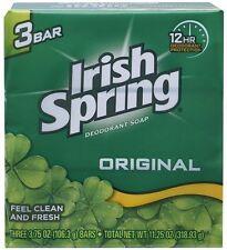 Irish Spring Deodorant Soap Original Bar, 3 Count 3.75 Ounce (3 Pack)